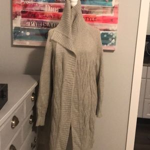 Gray Duster Sweater